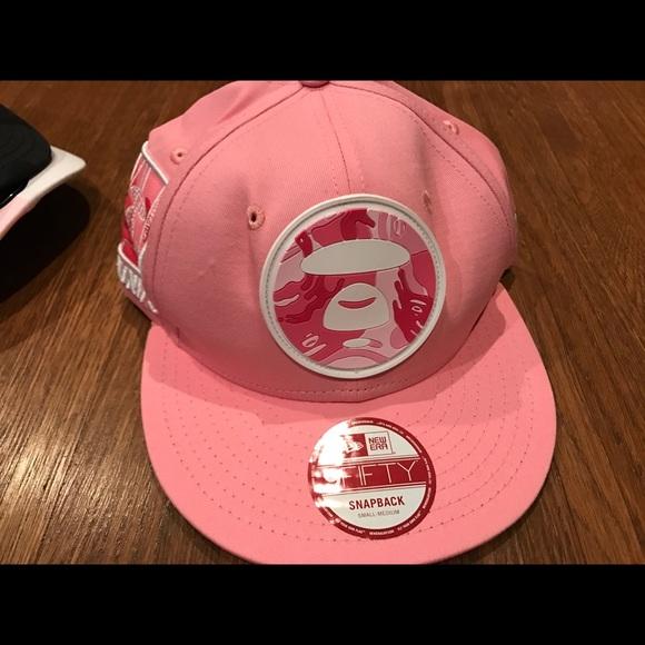 a6b598336ba Authentic Bathing Ape Bape women pink cap hat